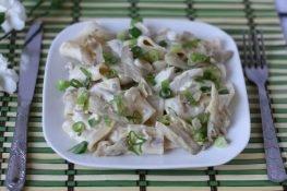 Calamarat z grzybami