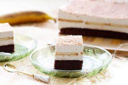 Ciasto kakaowe z kremem bananowym