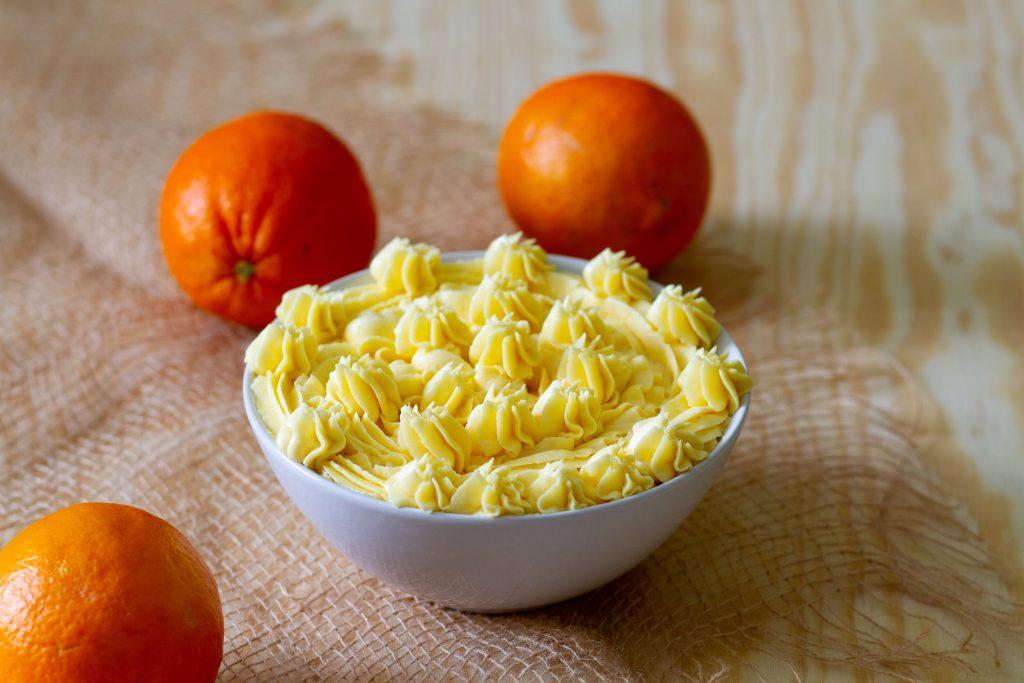 Krem na soku pomarańczowym