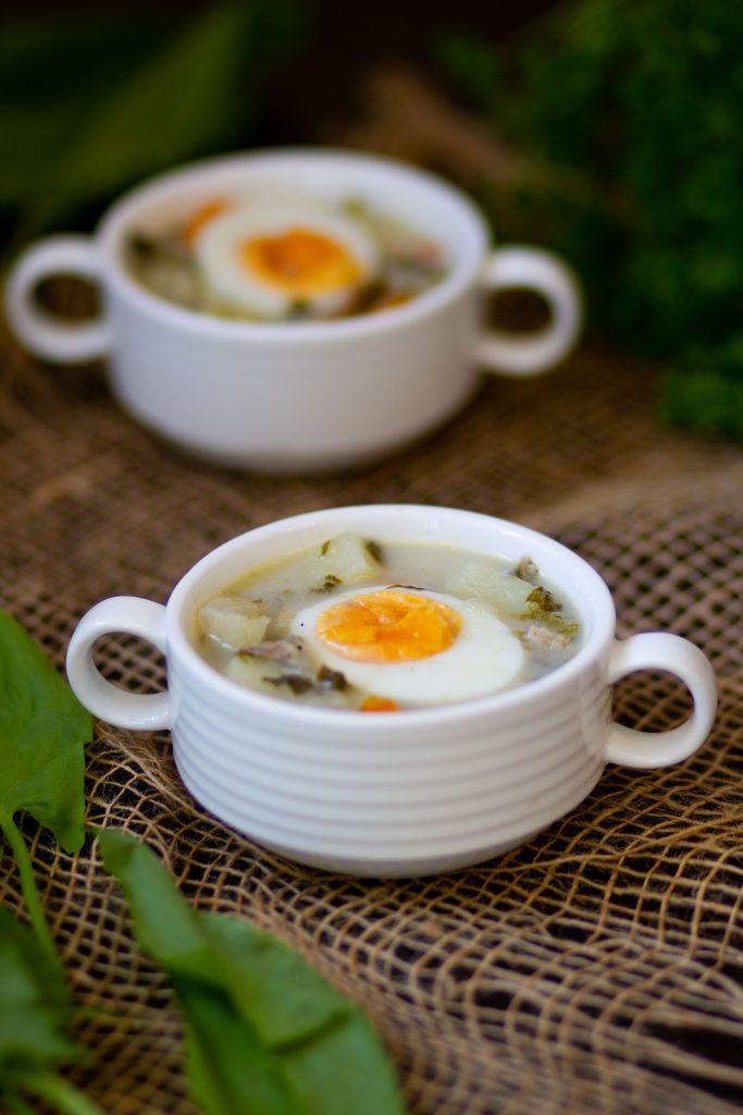 Zupa ze szczawiu z jajkiem